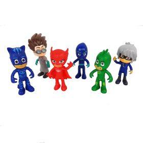 PJ Masks Mainan Pajangan Miniatur Hiasan Topper Set