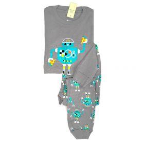 PIYAMA ANAK LENGAN PANJANG 4T - 10T - BLUE ROBOT