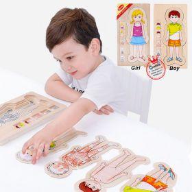 Mainan Edukasi Organ Tubuh Multi Layer Puzzle kayu 4 in 1