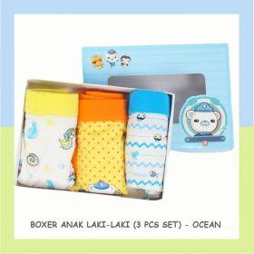 BOXER ANAK LAKI-LAKI / BOY BOXER (3 PCS SET) - OCEAN
