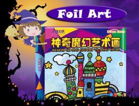 Mainan Edukasi Foil Art dengan 30 foil warna warni