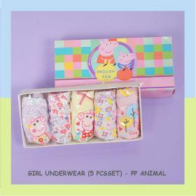 CELANA DALAM ANAK PEREMPUAN / GIRL UNDERWEAR (5 PCS/SET) - PP ANIMAL