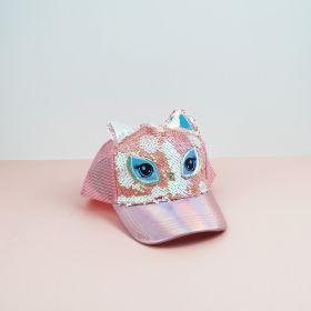 Topi Unicorn Sequin Starfive PINK