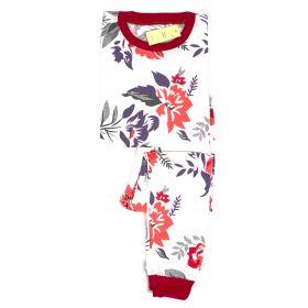 PIYAMA ANAK LENGAN PANJANG 4T - 12T - Red Flower