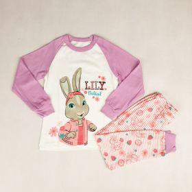 PIYAMA ANAK LENGAN PANJANG 4T - 12T - Lily Bobtail Rabbit